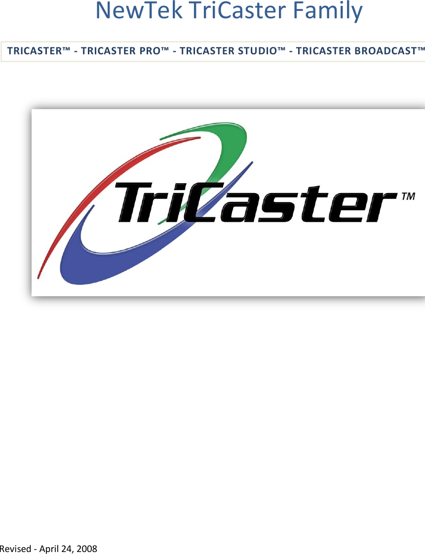 Tricaster Pro Manual Pdf