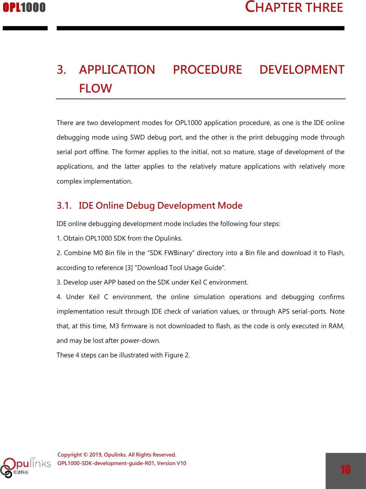 OPL1000 SDK Development guide ENG