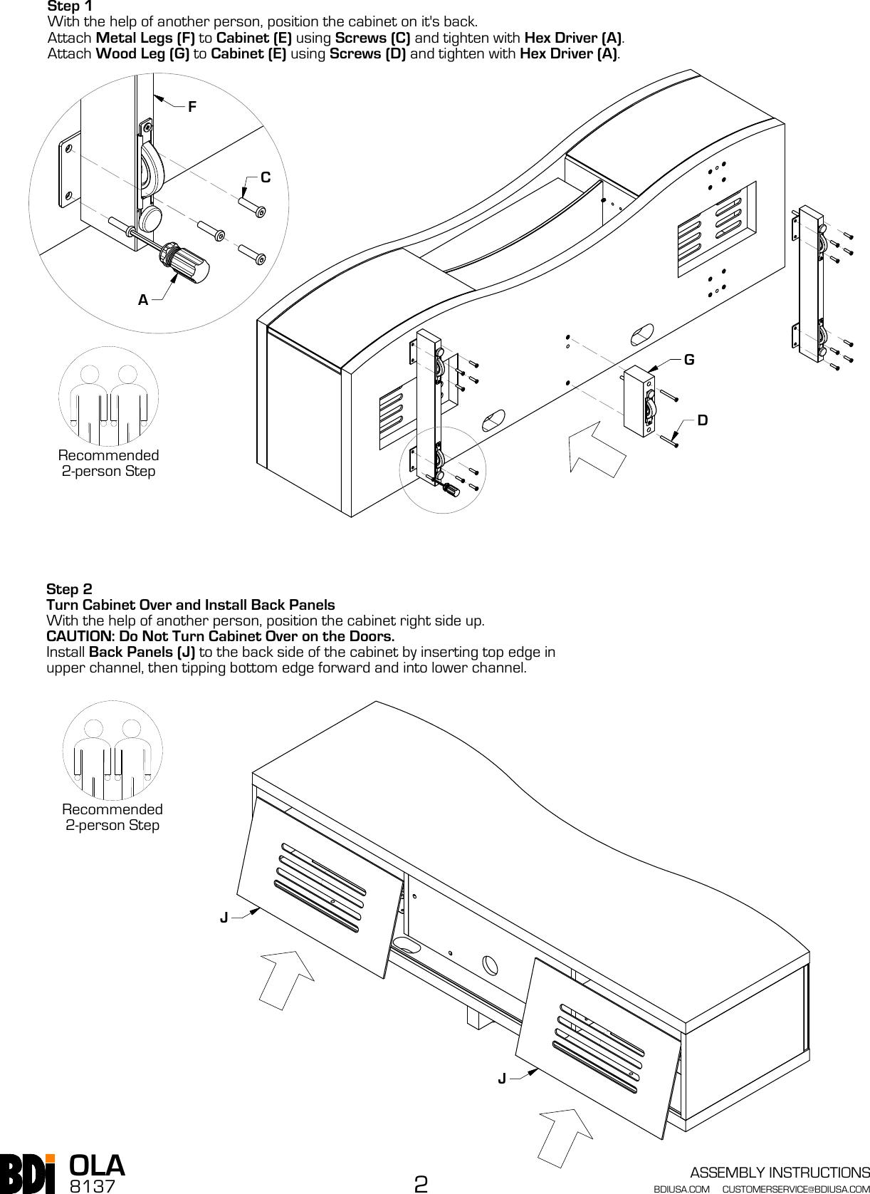 Ola_8137 dwg Ola 8137 Bdi Assembly Instructions