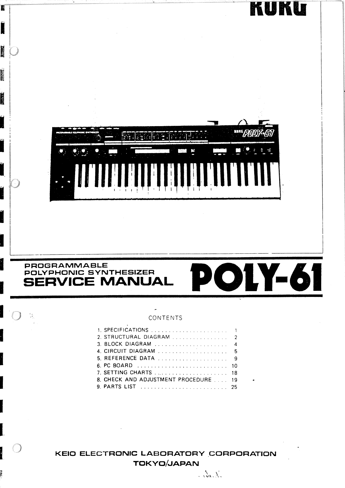 Korg Poly 61 Service Manual Poly61 Electronic Keyboard Circuit Diagram