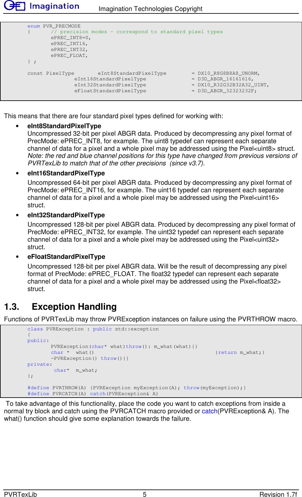 PVRTex Lib User Manual 1 7f External
