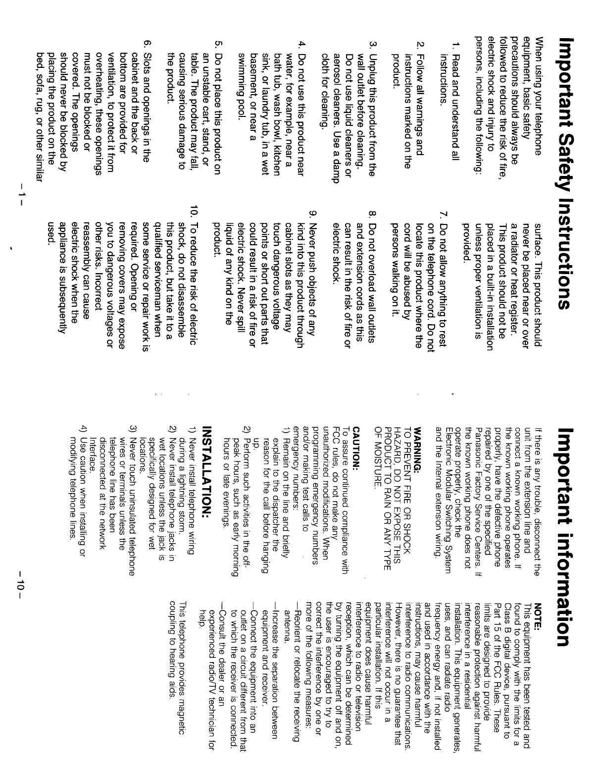 PDF Panasonic KX T7130 Ref Manual