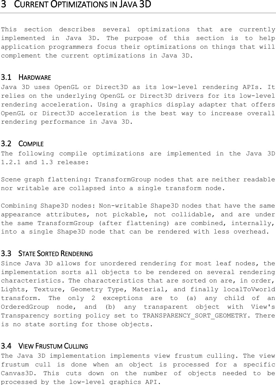 Java 3D Performance Guide For Java3D