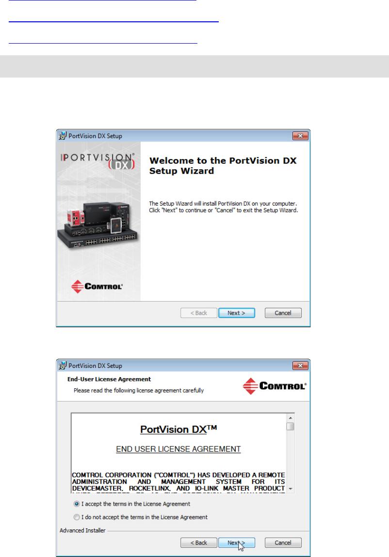Portvision Dx User Guide Ftp Ftpcomtrolcom Legacy Dev Mstr Power Over Ethernet Rocketlinx Devicemaster Serial Device Server Installing