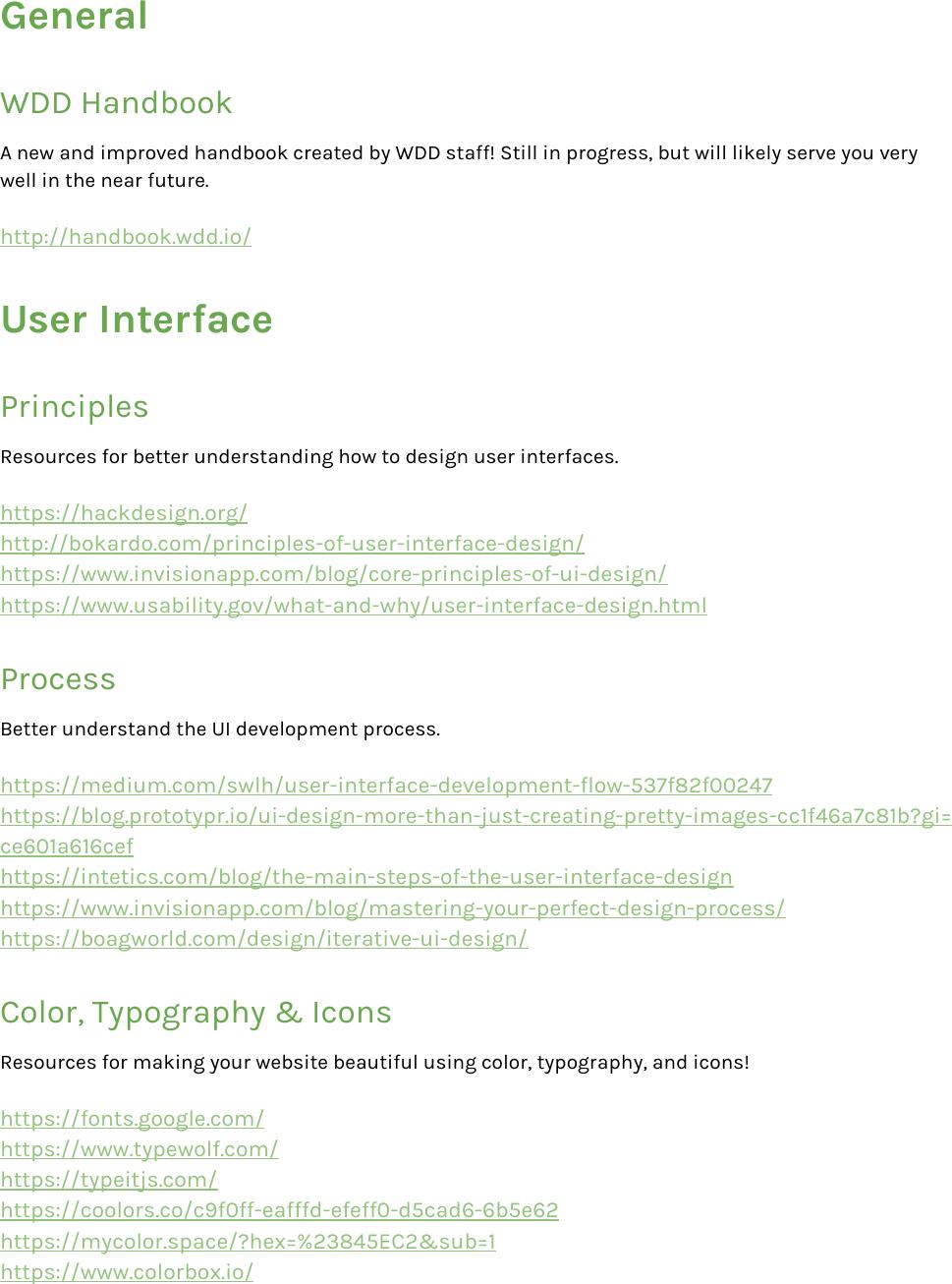 Post WDD Design Resource Guide