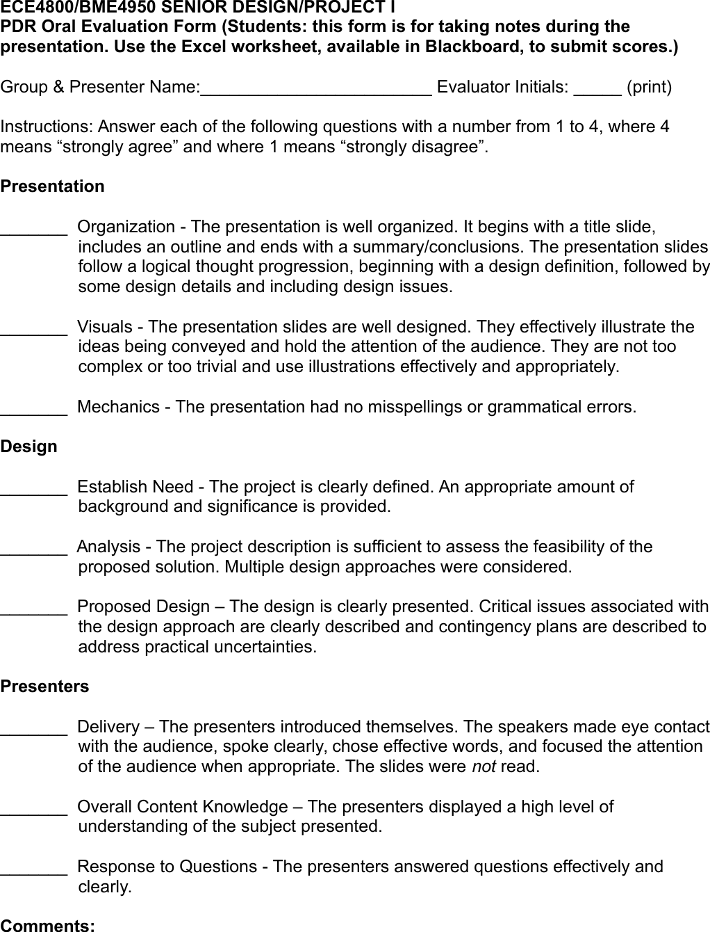 Page 3 of 3 - Presentation Instructions And Rubric 2015