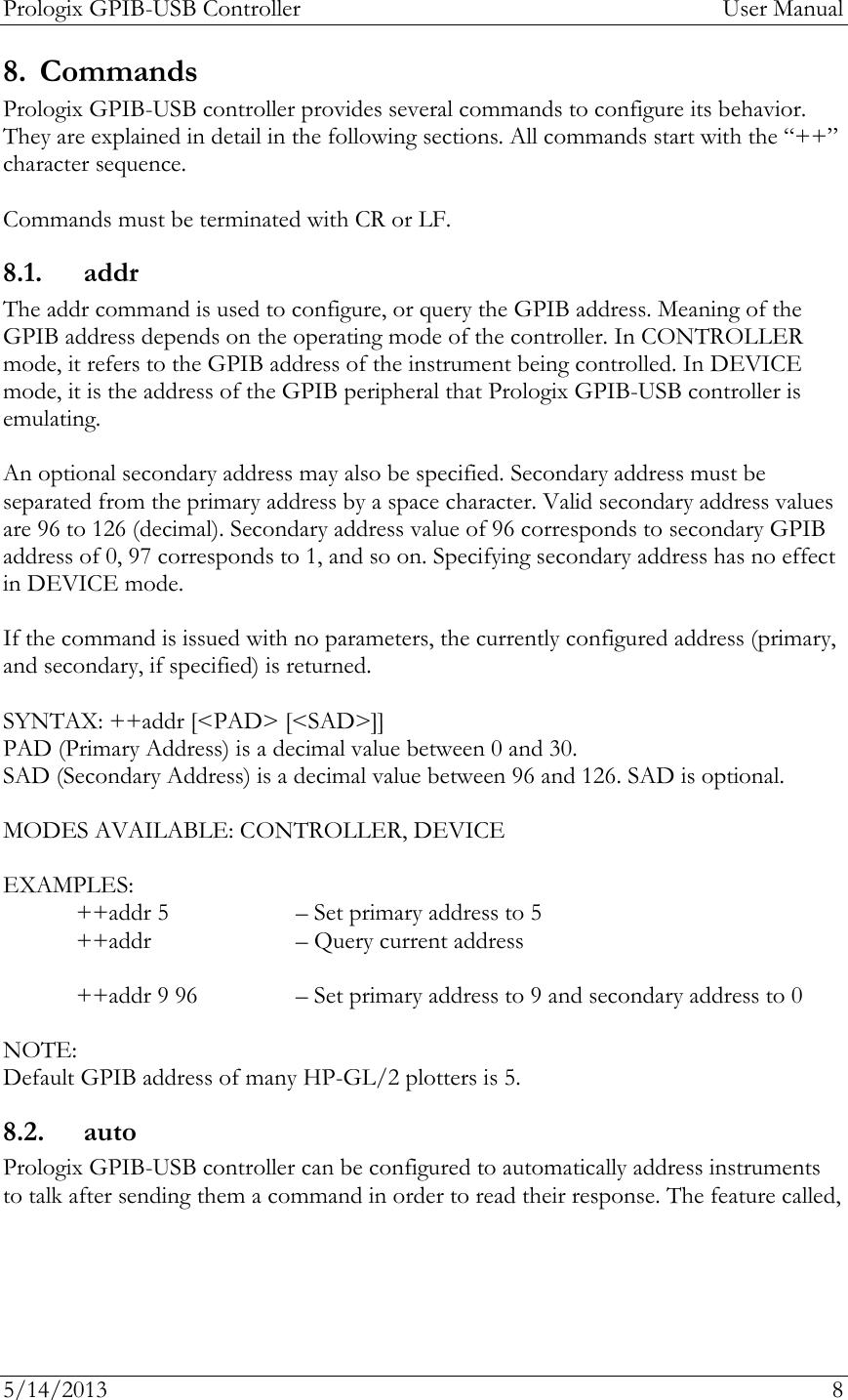 PROLOGIX Gpib Usb Manual 6 0