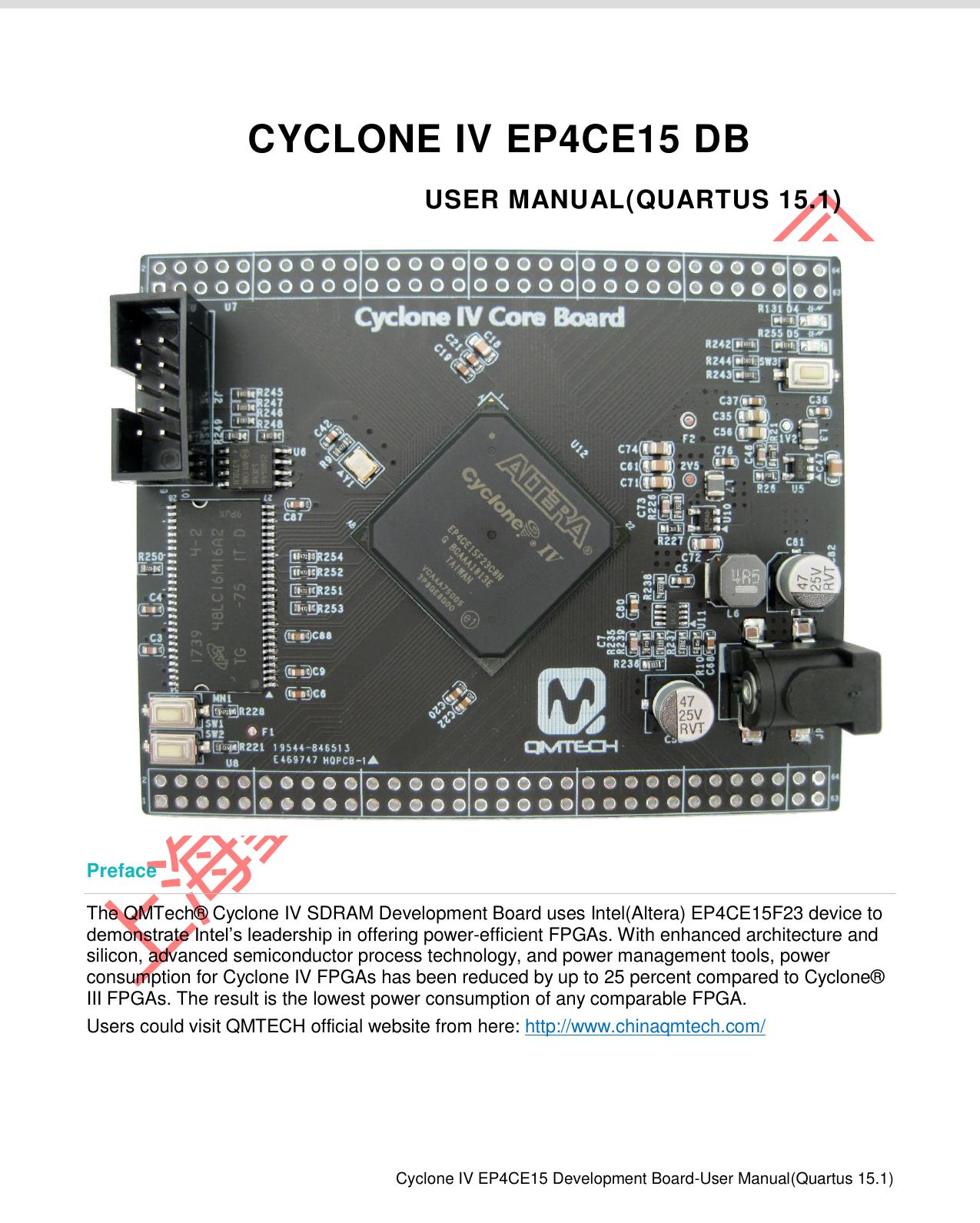 QM_CycloneIV_EP4CE15开发板 用户手册(Quartus15 1使用) V02