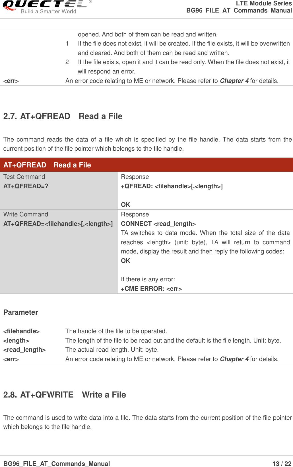 Quectel BG96 FILE AT Commands Manual V1 0