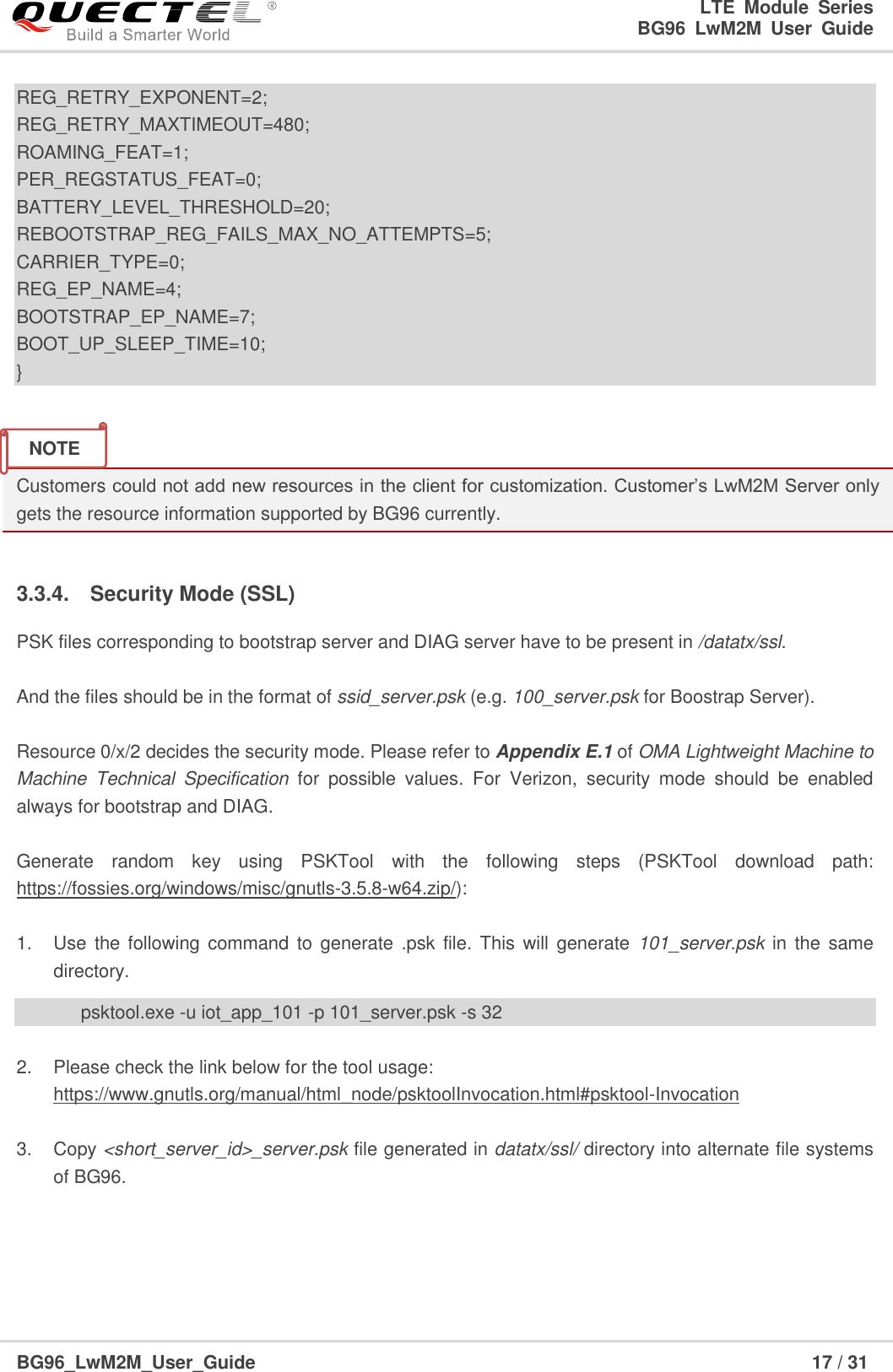 Quectel BG96 Lw M2M User Guide V1 0