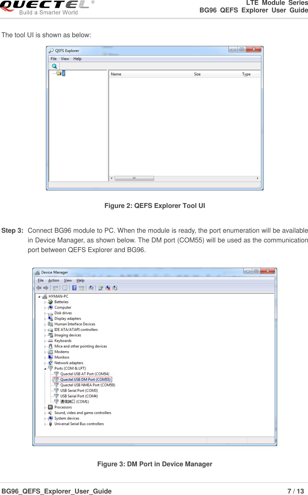 Quectel BG96 QEFS Explorer User Guide V1 0 Preliminary 20180428
