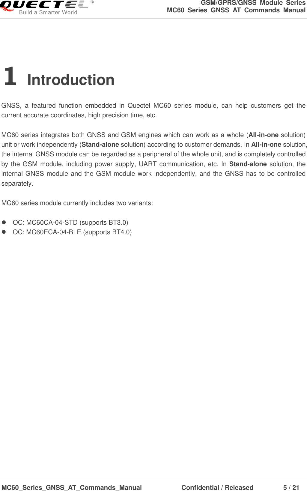 Quectel MC60 Series GNSS AT Commands Manual V1 3