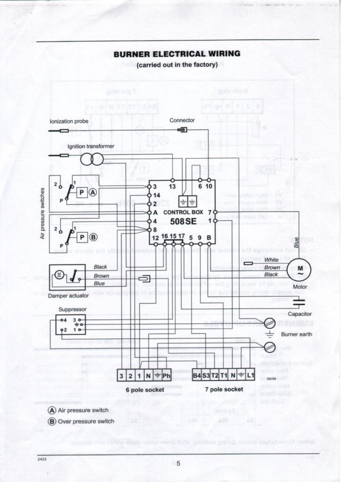 Full Page Fax Print R40gs20p Riello Gas Burner Schematic 31744