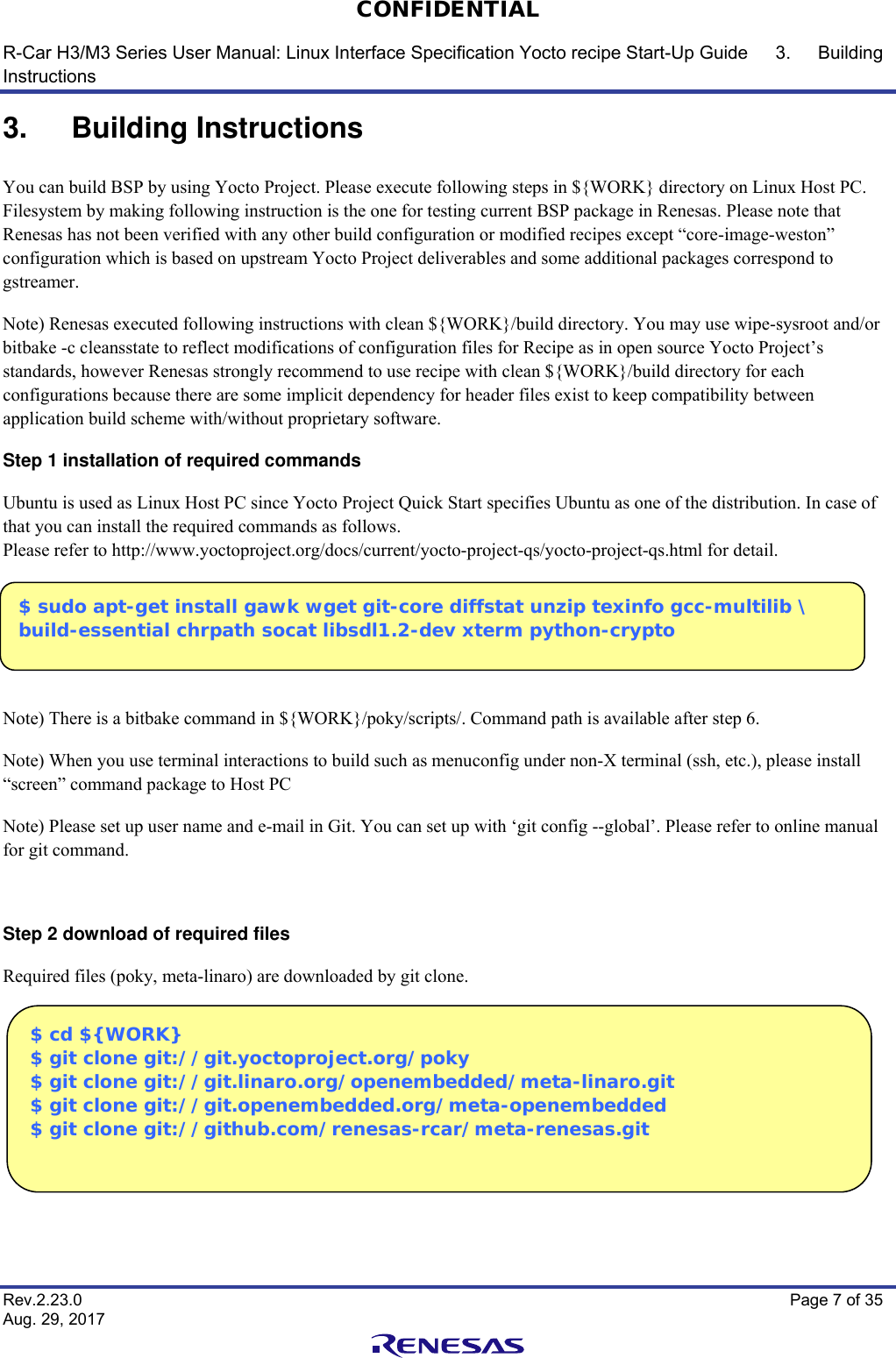 R Car H3/M3 Series User Manual: Linux Interface