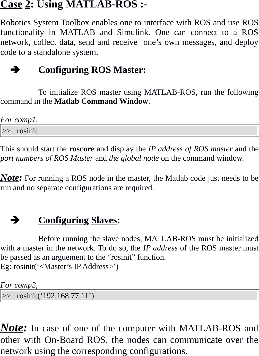ROS On Multiple Machines Manual
