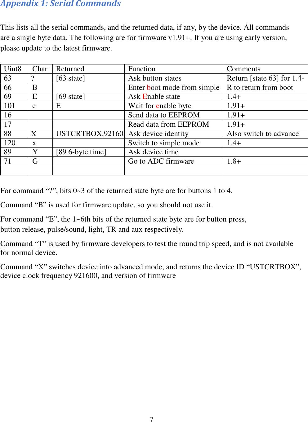 Reaction Time Box RTBox V1 User Manual