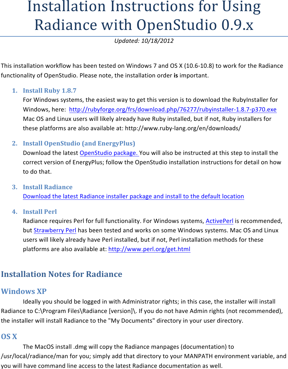 Ruby installer windows