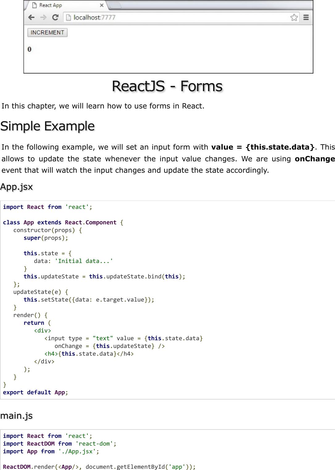 React JS Quick Guide