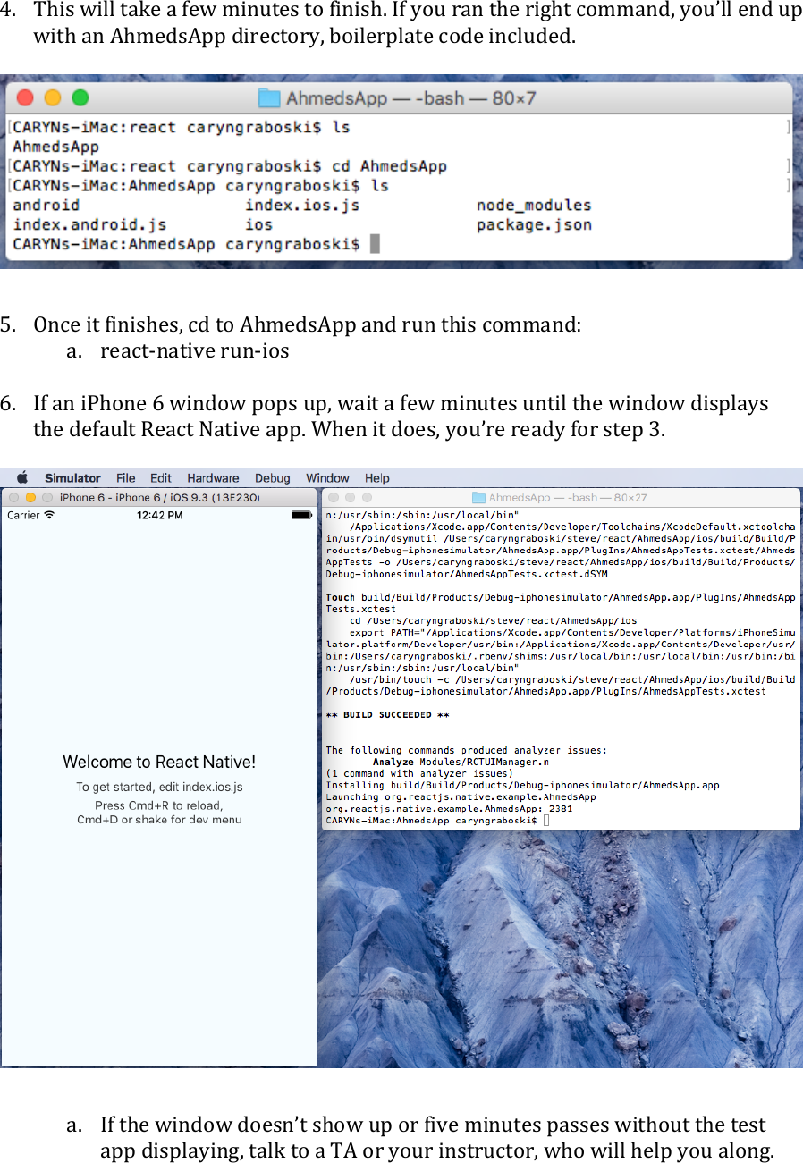 React Native Basic Guide Mac