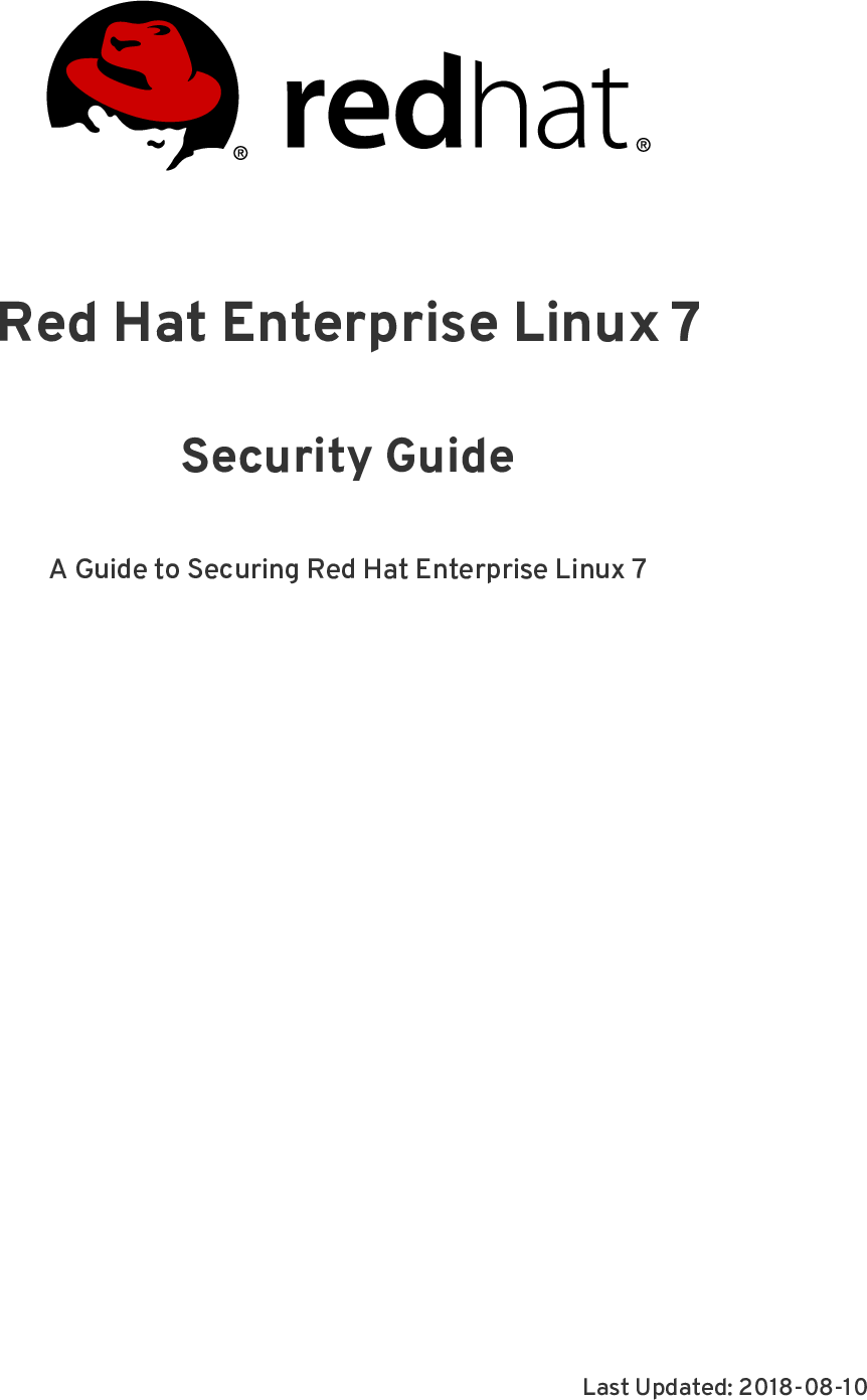 Security Guide Red Hat Enterprise Linux 7 Guide@2018