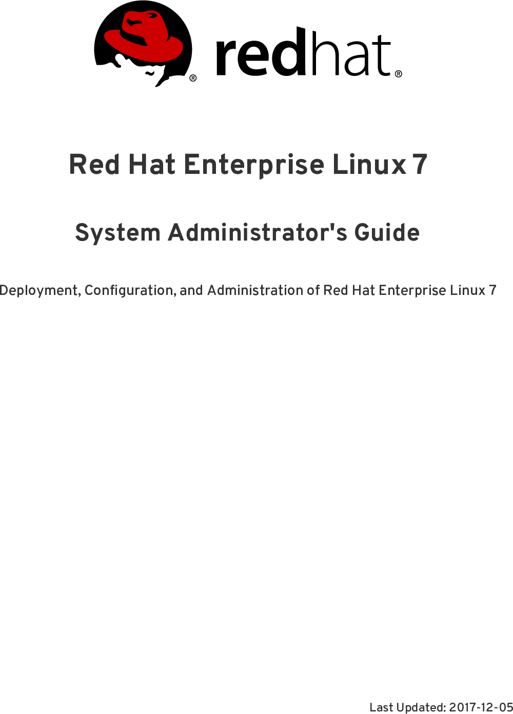 System Administrator's Guide Red Hat Enterprise Linux 7