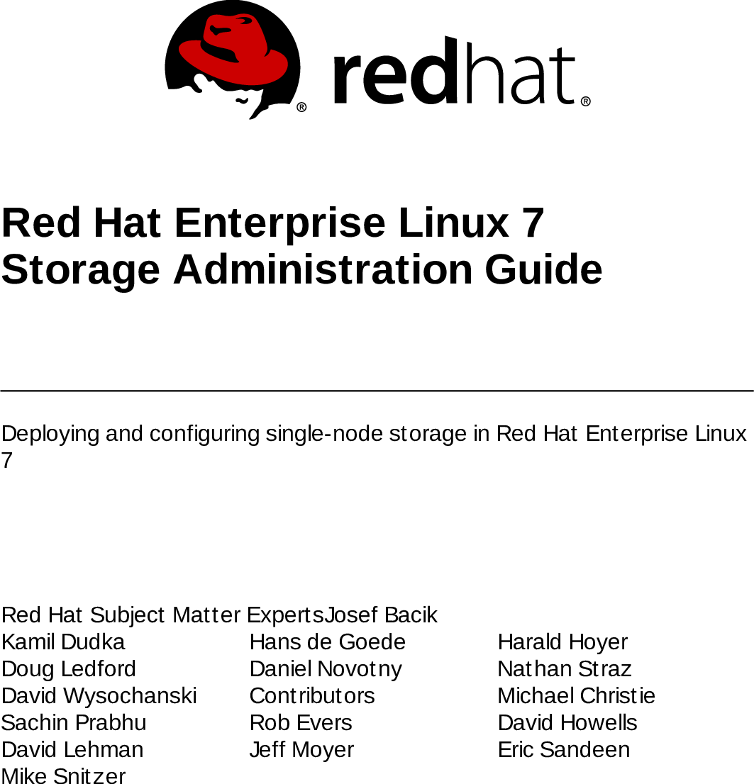 Storage Administration Guide Red Hat Enterprise Linux 7 en US
