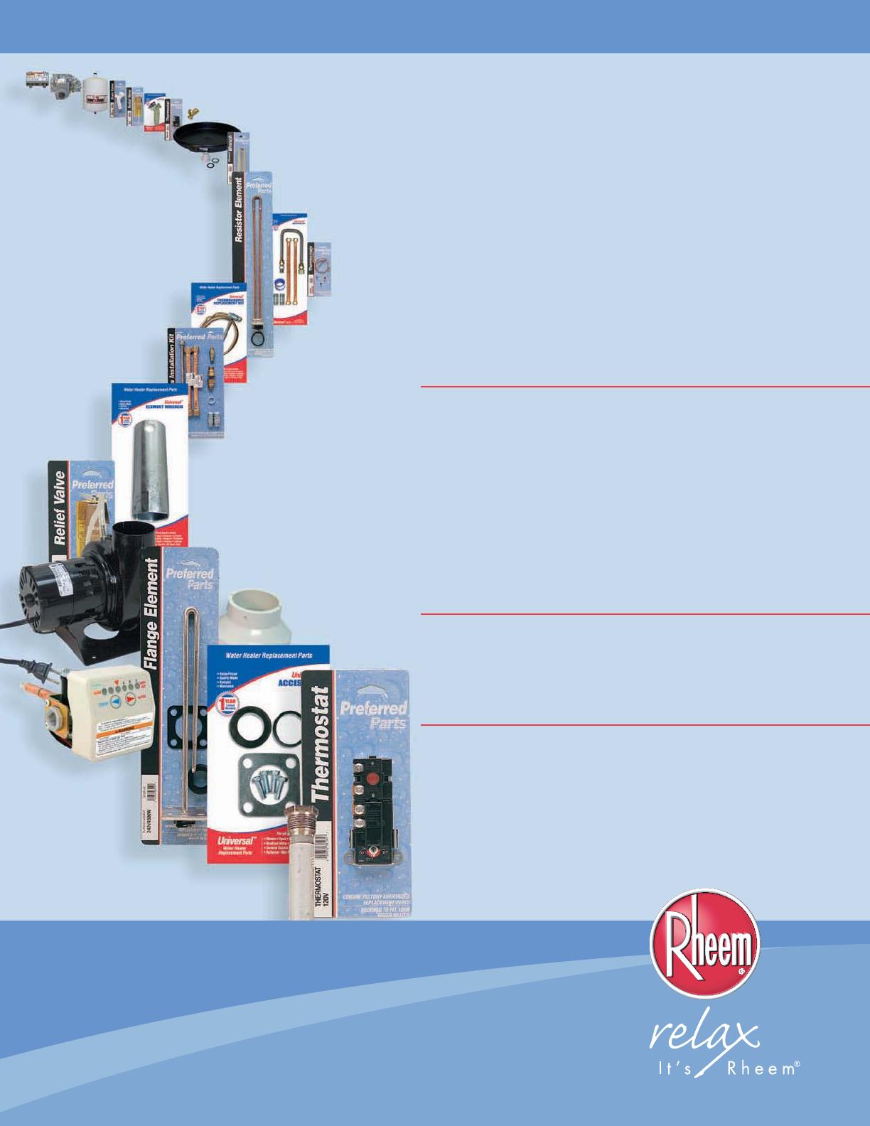 Rheem water heater age