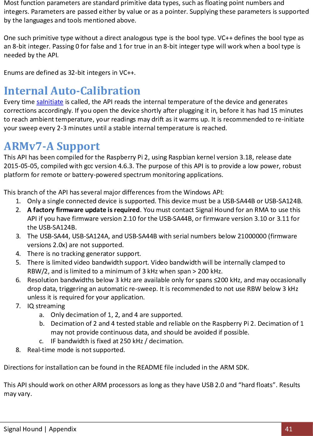 SA44 And SA124 Application Programming Interface(API) SA API Manual