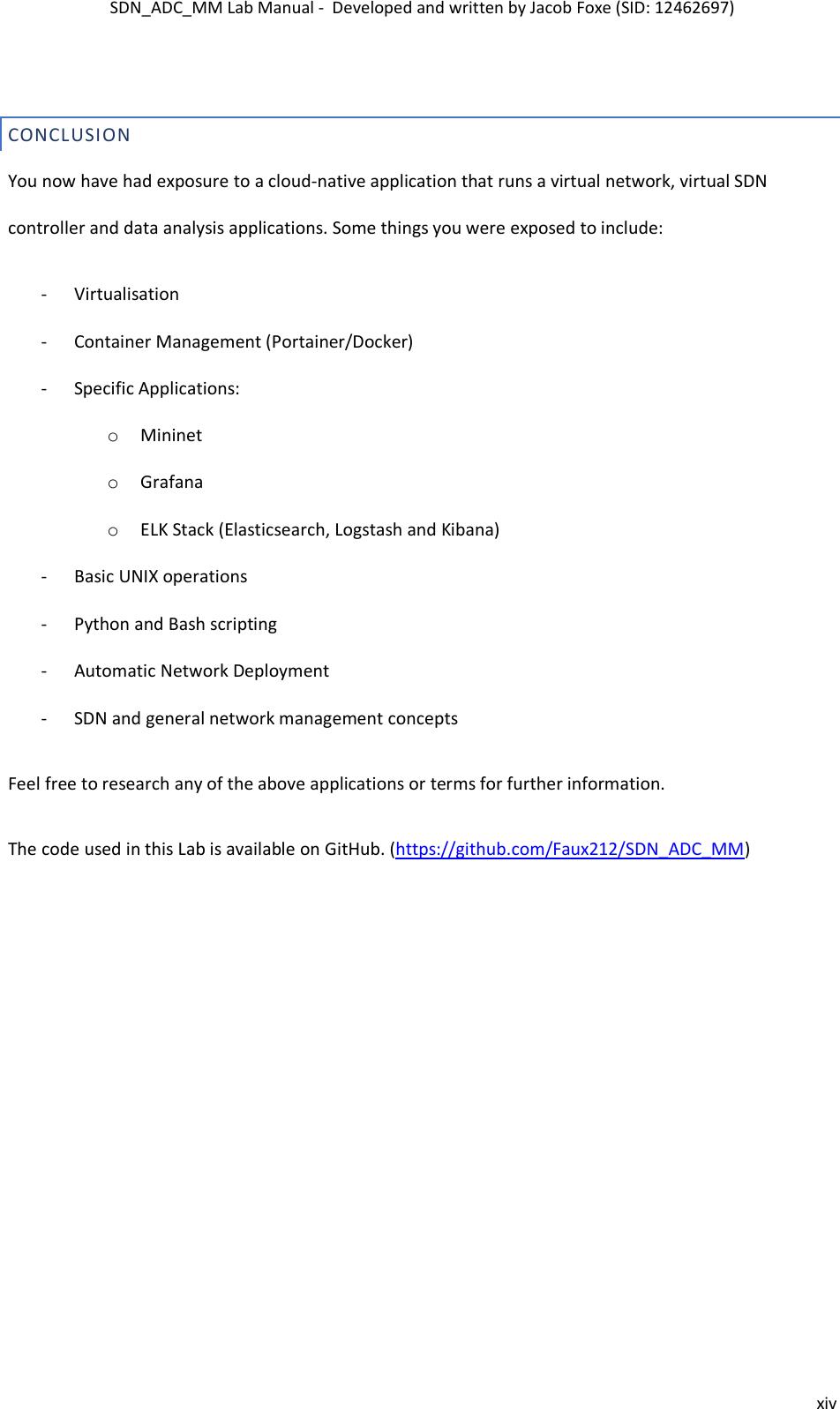SDN ADC MM Manual