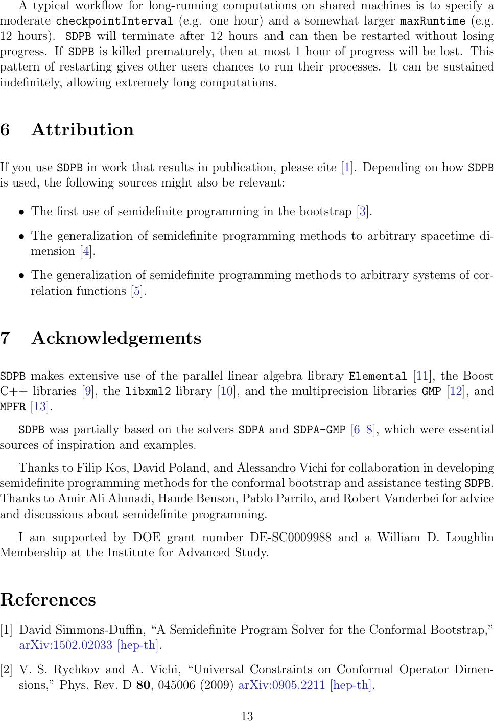 SDPB Manual