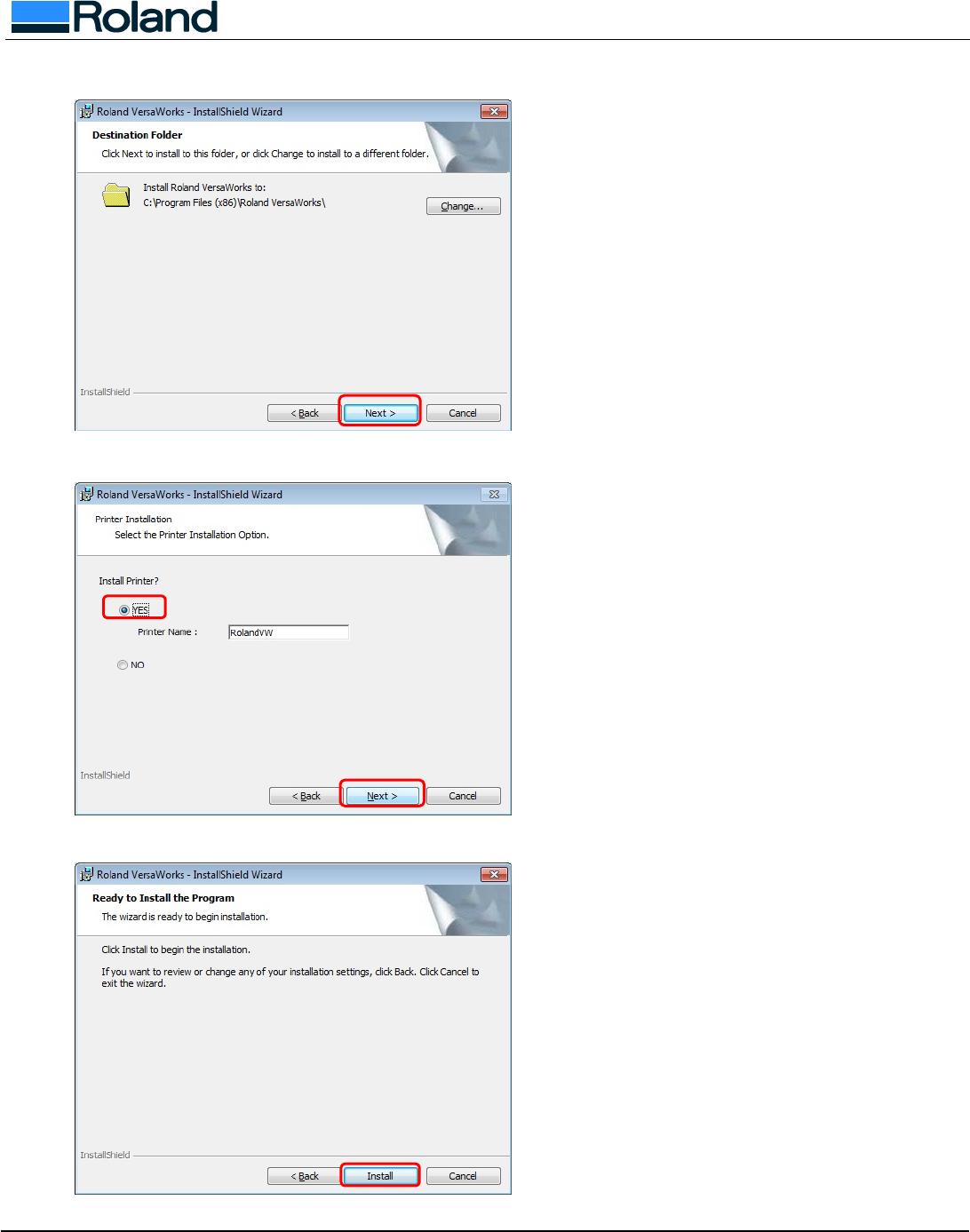 Usign SP 300/V With VersaWorks On Windows 7/Vista 300 SP300Von