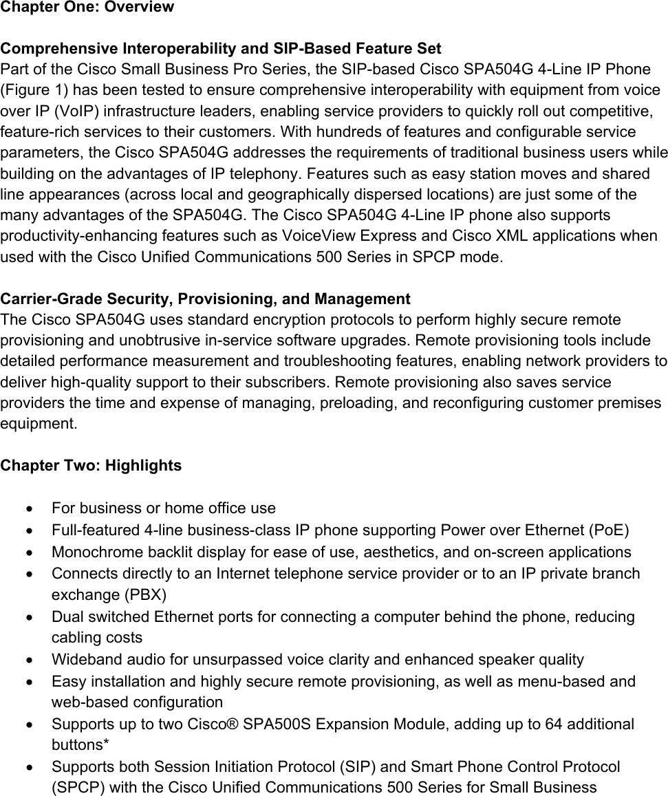 SPA504G Phone Manual