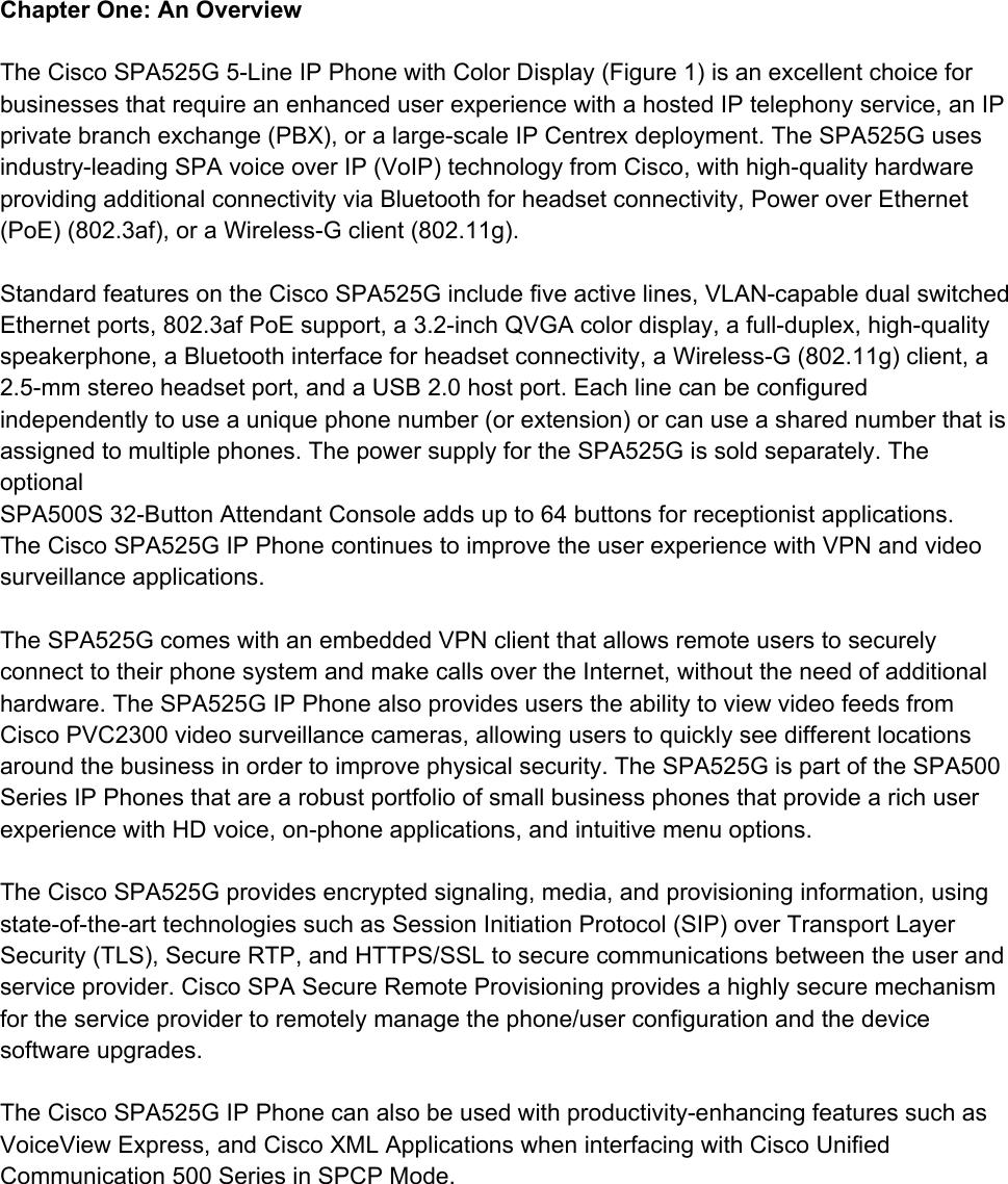 SPA525G2 Phone Manual