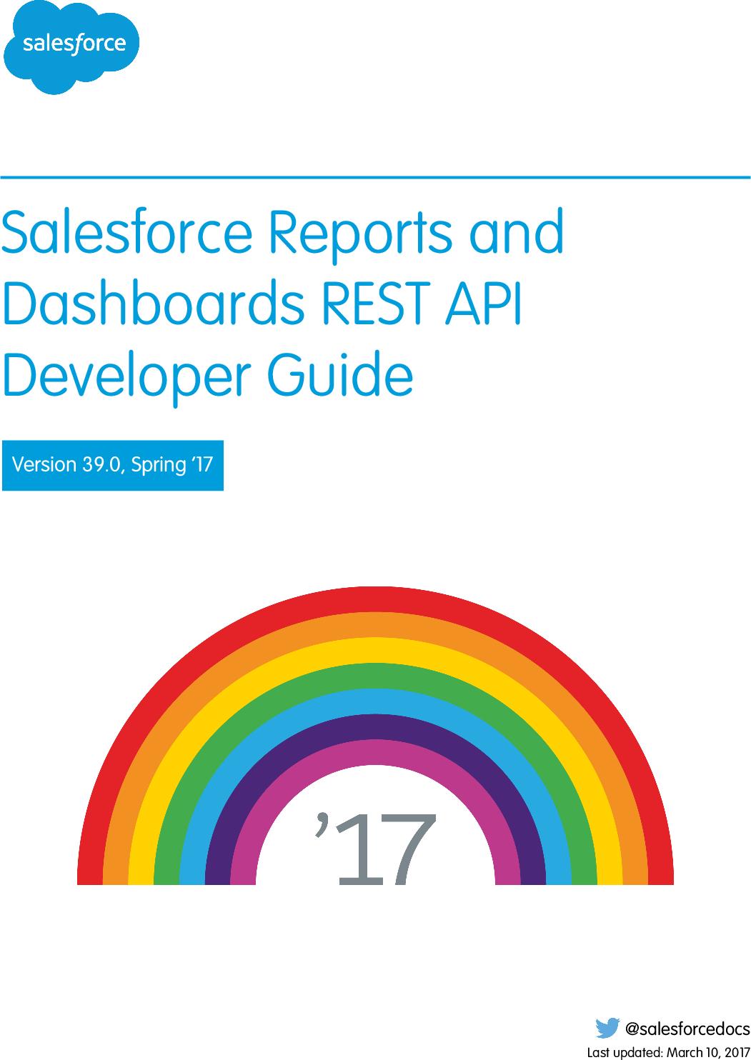 Salesforce Reports And Dashboards REST API Developer