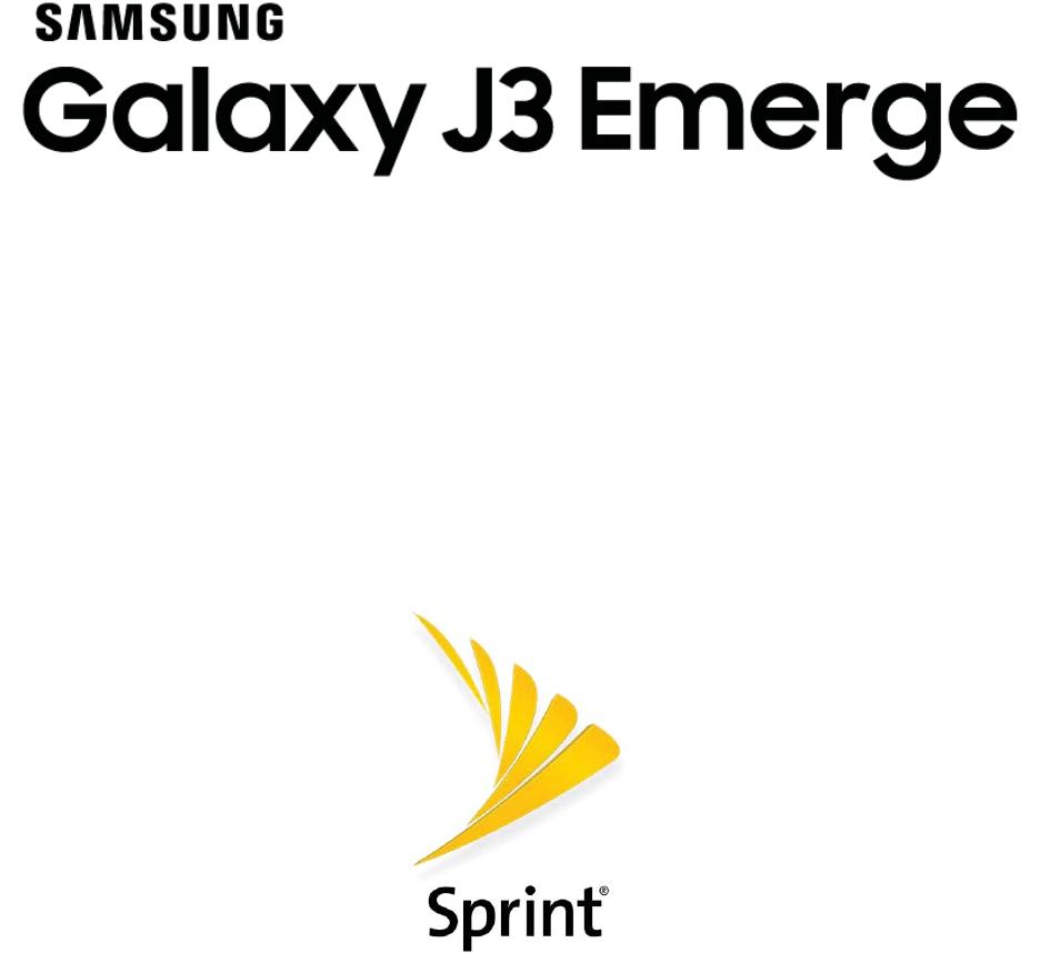 Samsung Galaxy J3 Emerge J327p User Guide Manual