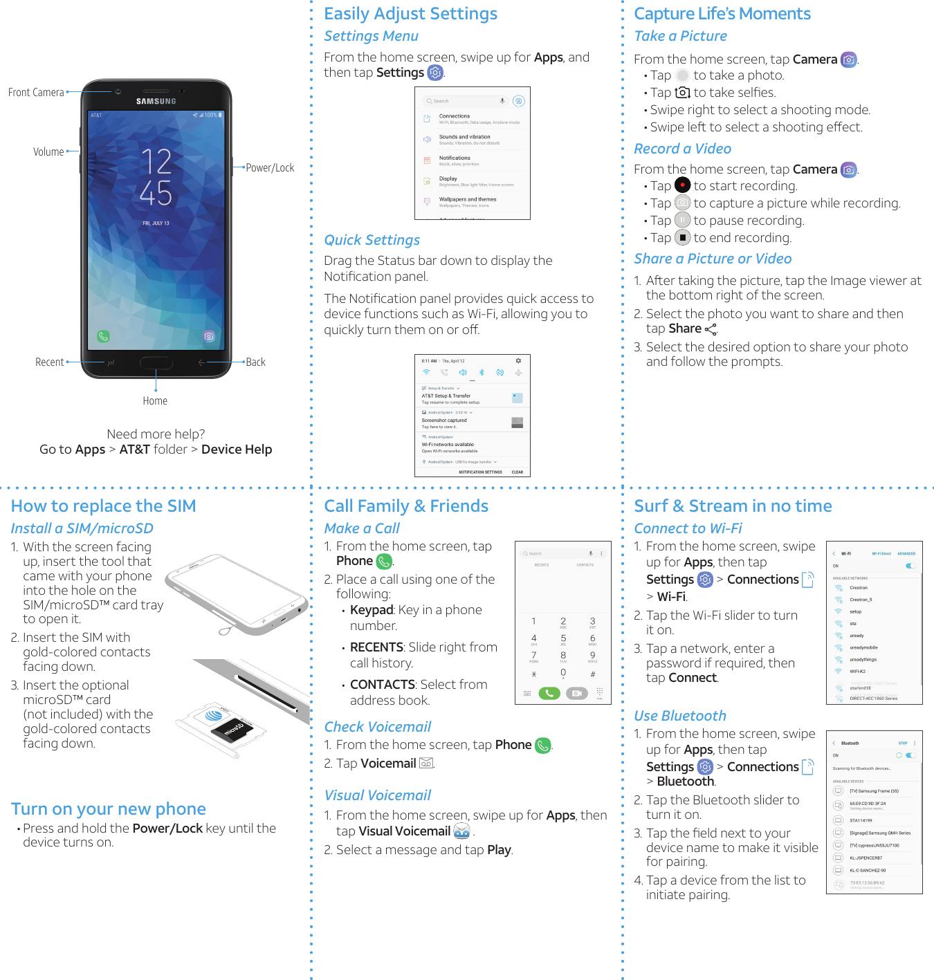 Samsung galaxy j7 2018 quickstart