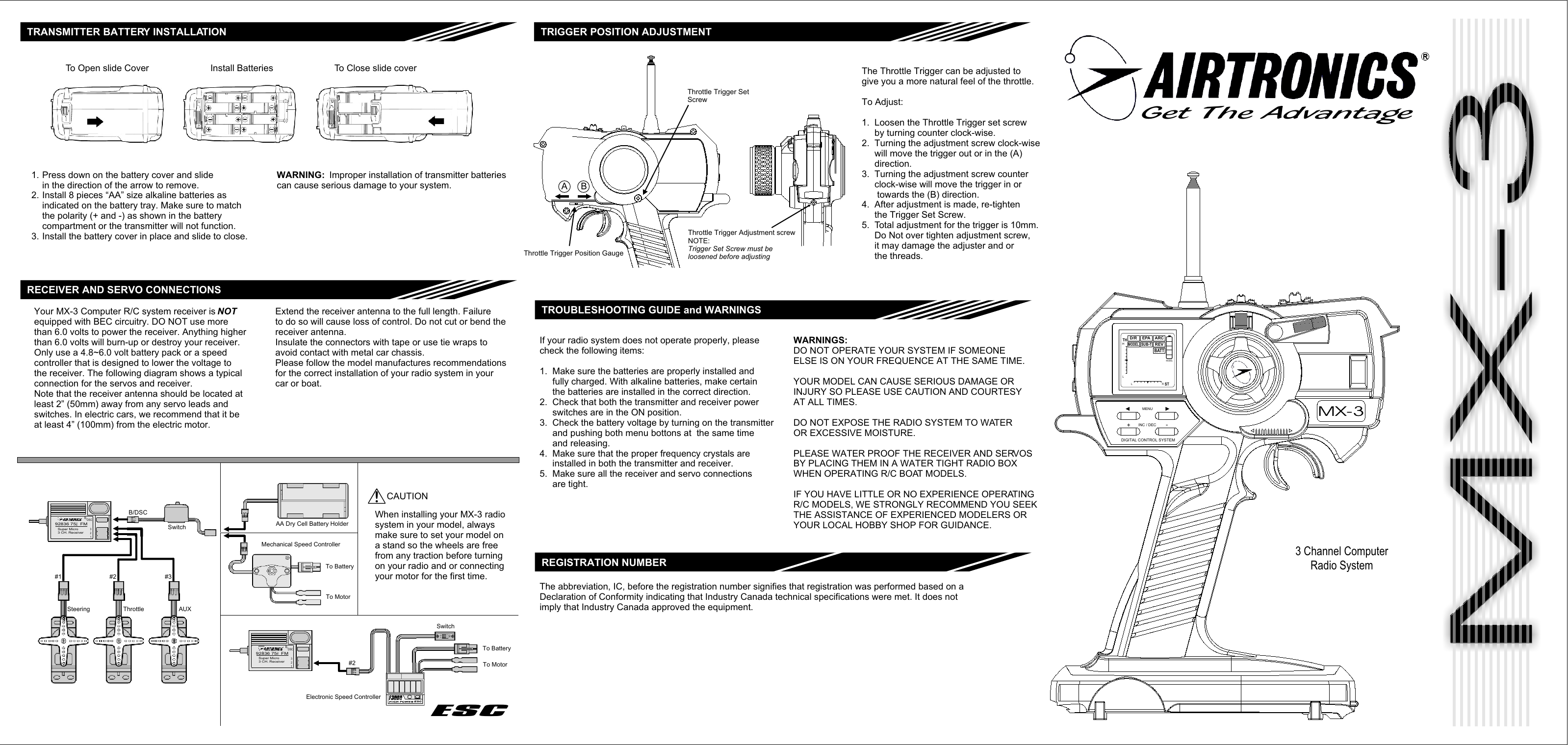 Mx 3 Front Page Manual Sanwa Users Guide Dry Cell Diagram