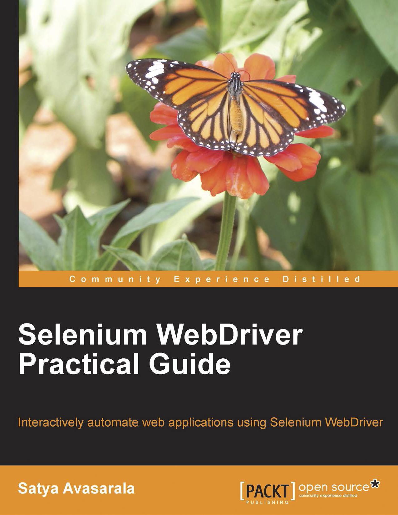 Satya Avasarala Selenium Web Driver Practical Guide Packt