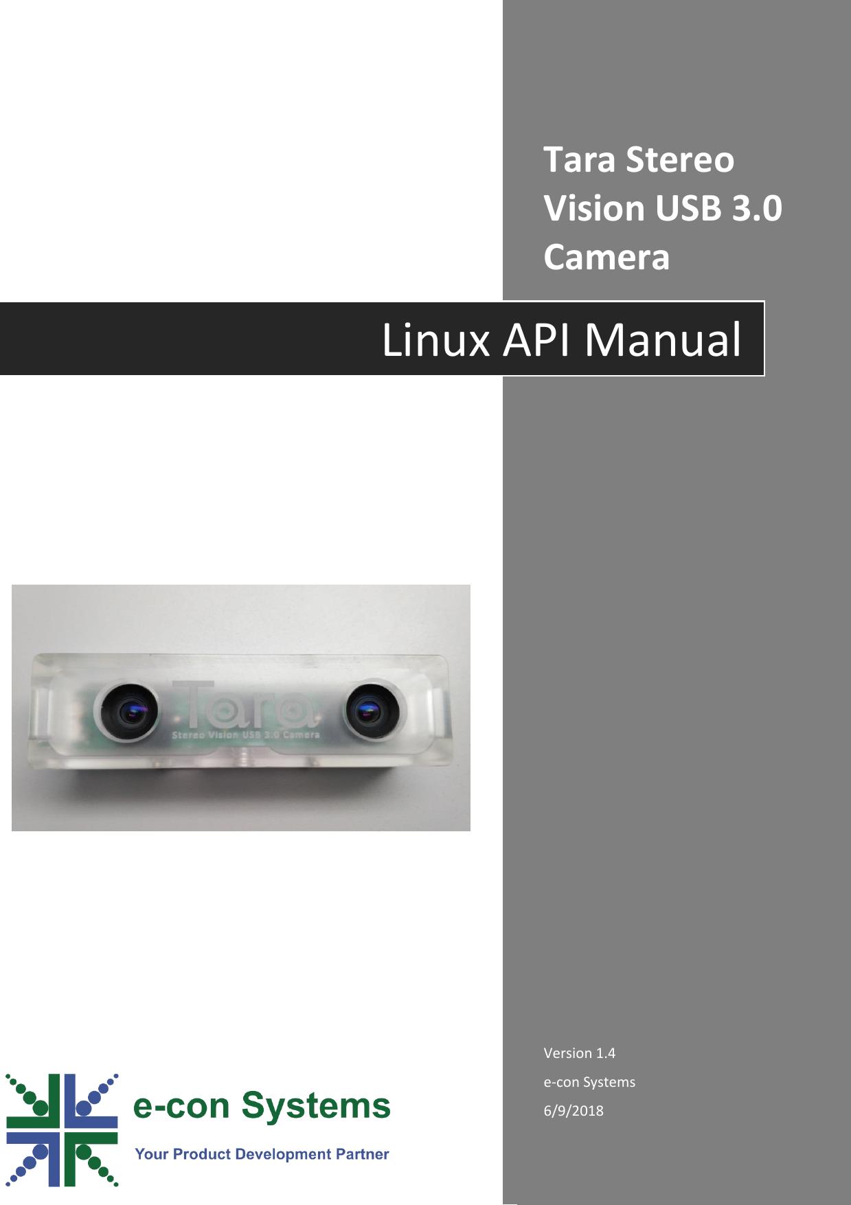 See3CAM Stereo TARA Linux API Manual Rev 1 4