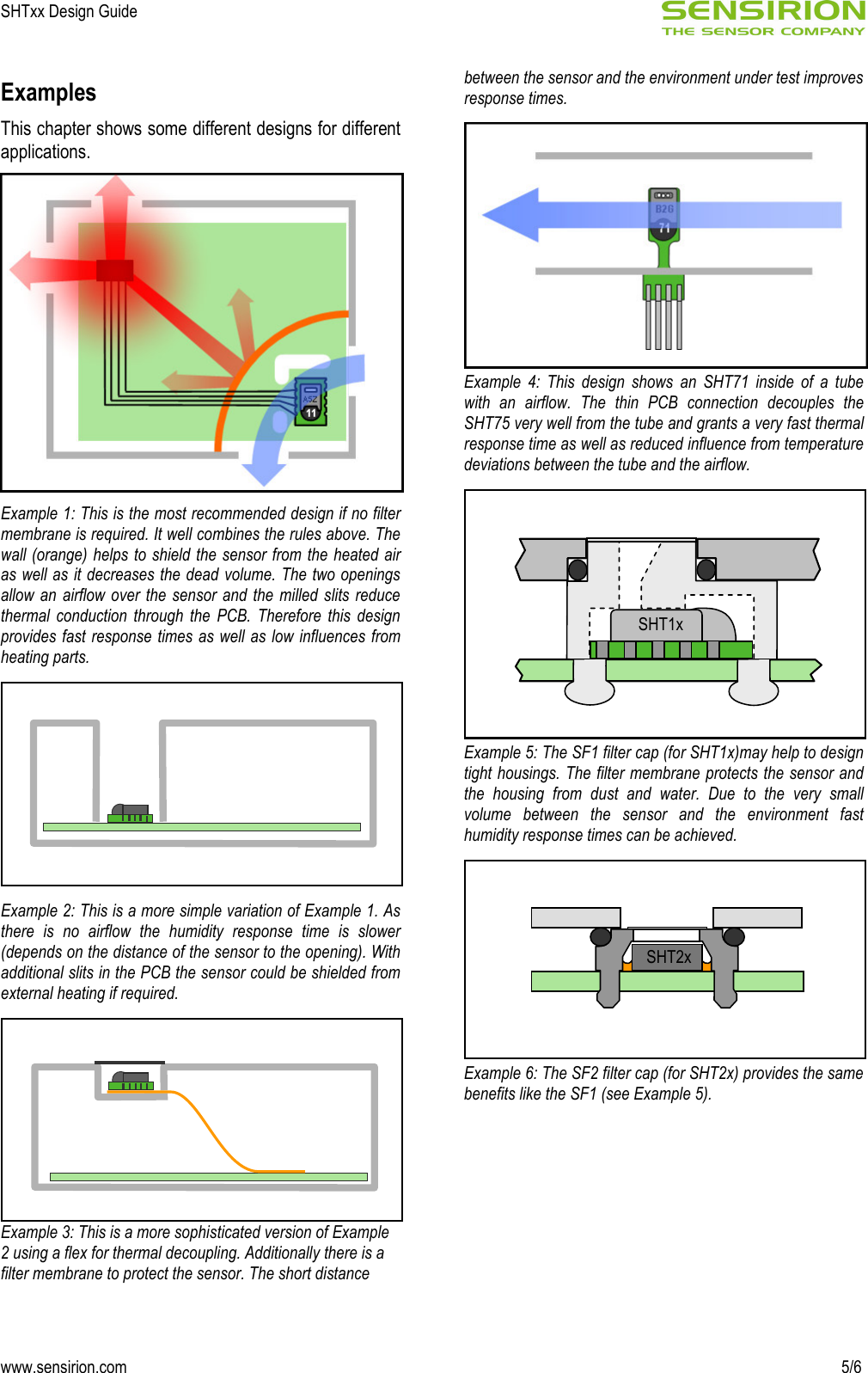 SHTxx_DesignGuide_V1 0_C1 Sensirion Humidity Design Guide V1