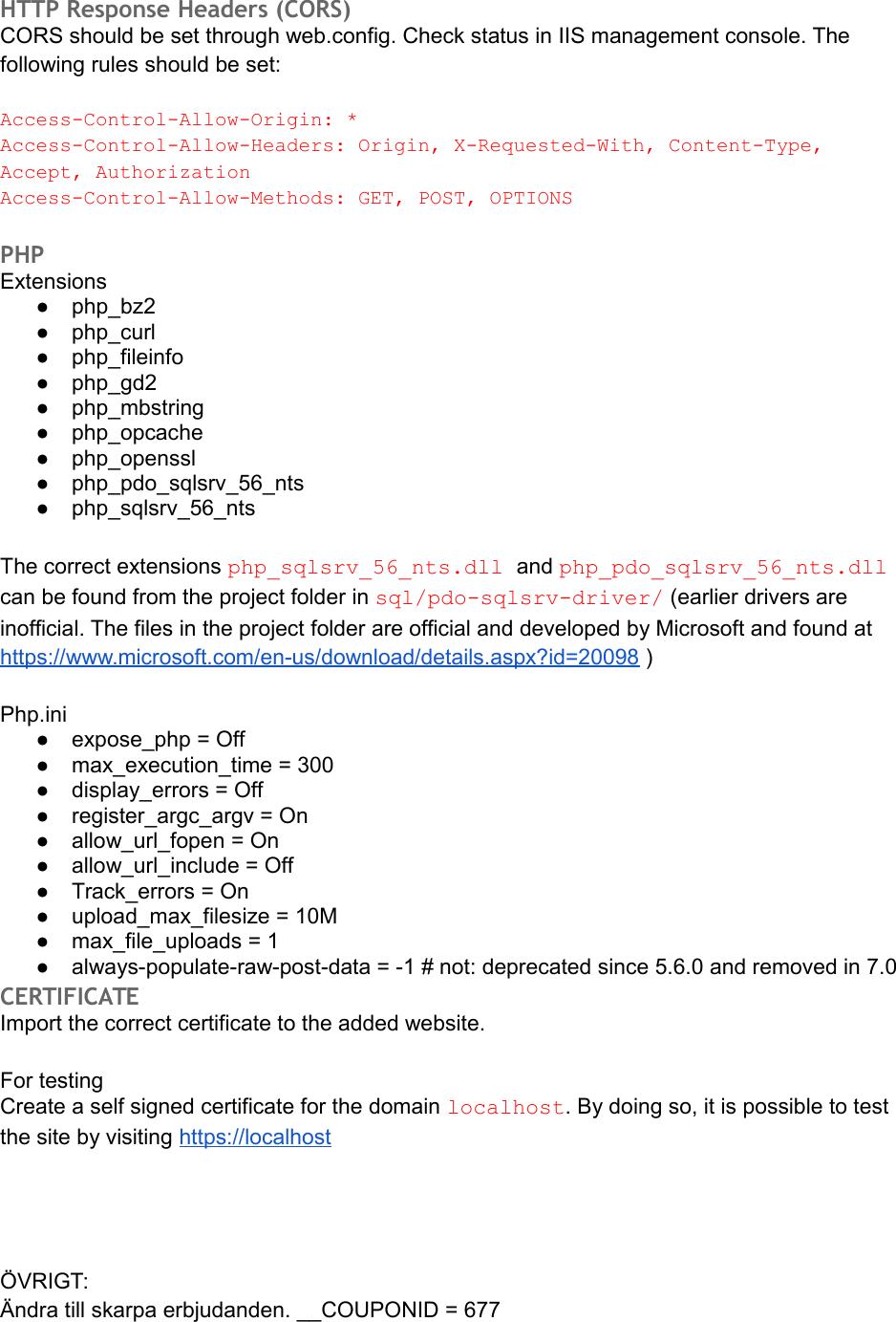 Server Installation Guide
