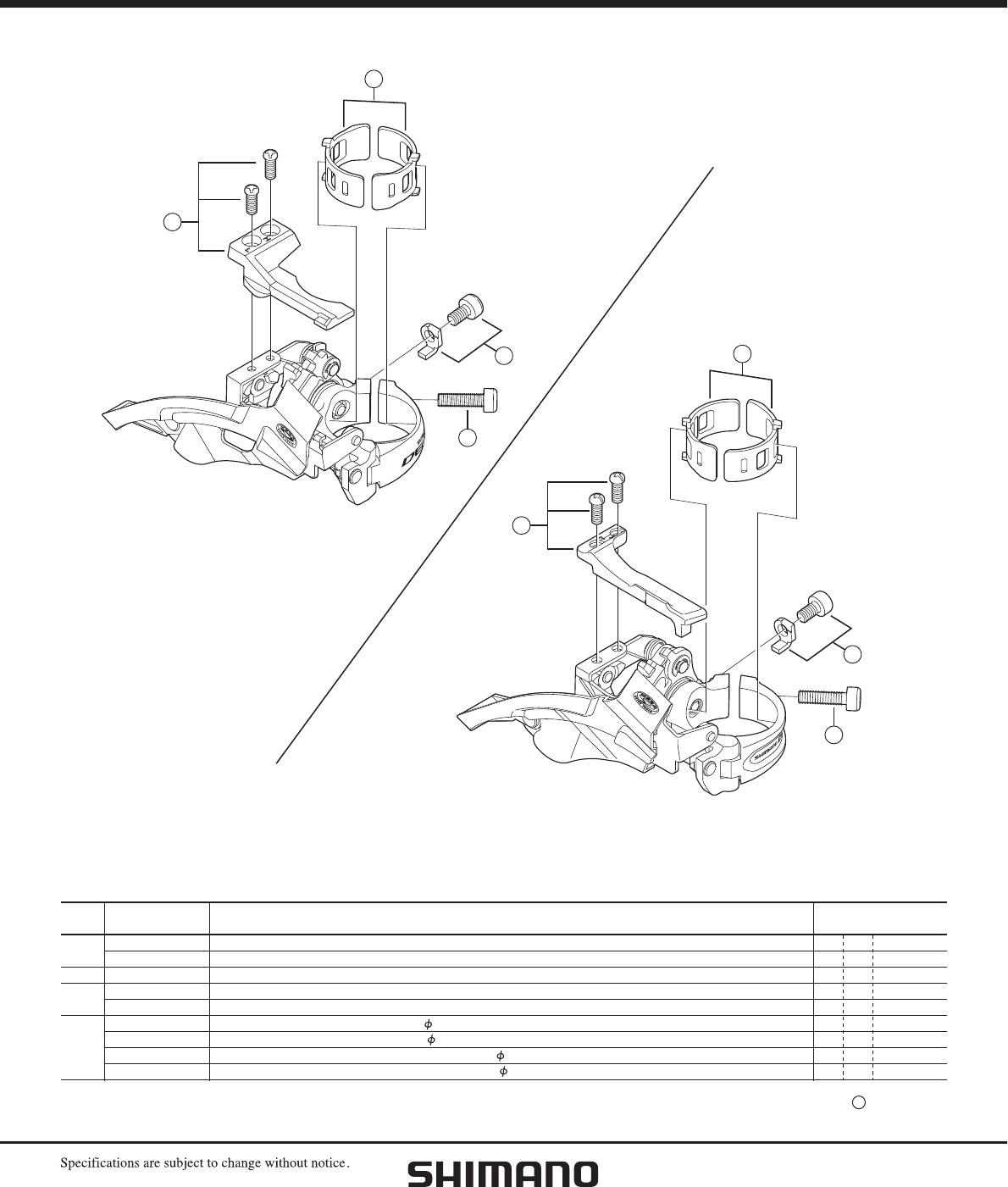 Shimano Repair Manual Isuzu 4he1 Engine Diagram Array Deore M590 Front Derailleur User Rh Usermanual Wiki