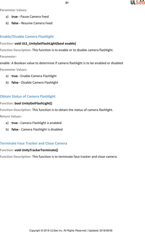 Single Face Tracker For Unity Plugin V 1 3 20 (Lite) User