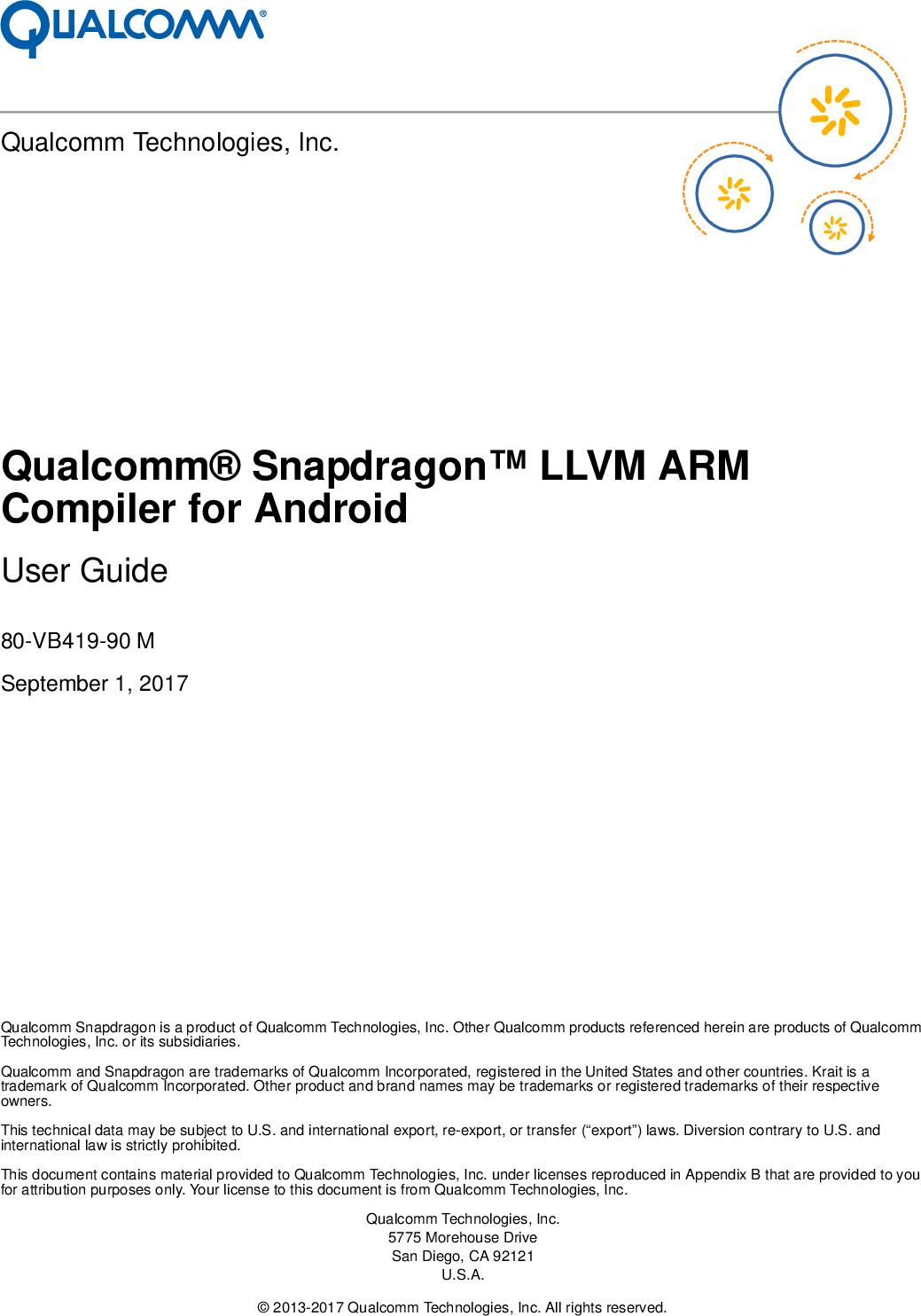 _llvm_arm_external Snapdragon LLVM ARM 40 Compiler User Guide