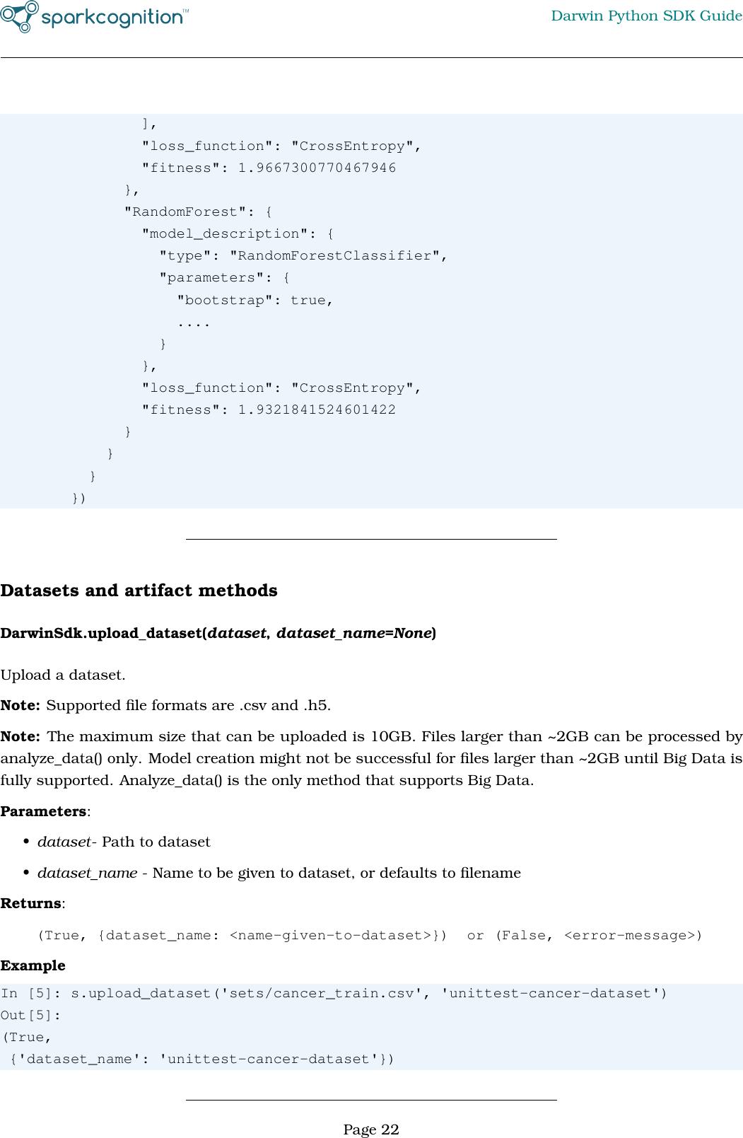 Spark Cognition Darwin Python SDK Guide V1 6 2
