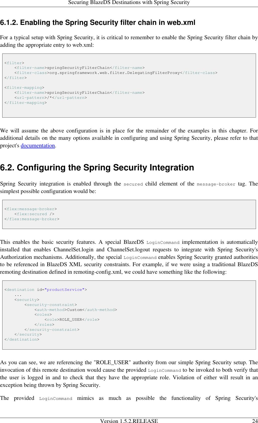Spring Blaze DS Integration Reference Guide V1 5 2 RELEASE