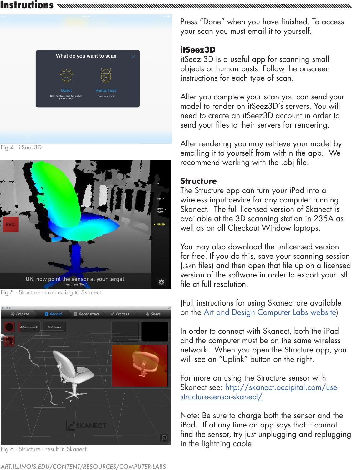 Structure Sensor Scanning Guide