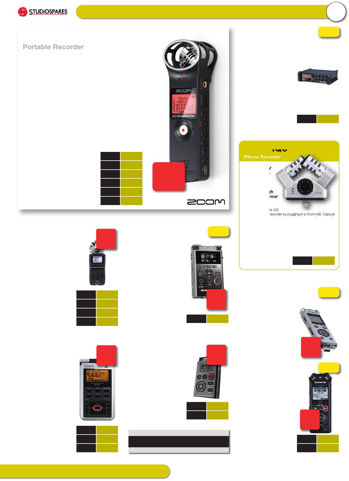 Studiospares Catalogue 2017 Seat Post Suspension Zoom Ready Size 316 Portable Recorders 5