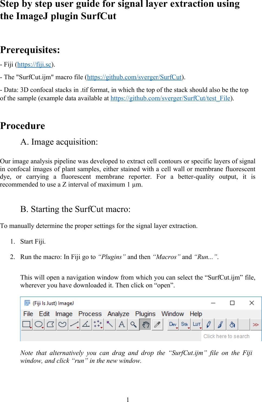 Surf Cut User Guide