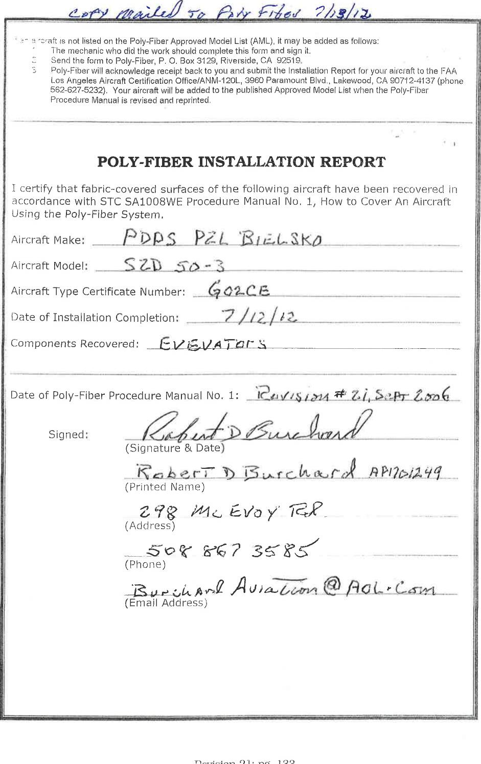 Szd 50 3 Puchacz Form 337 Major Repair